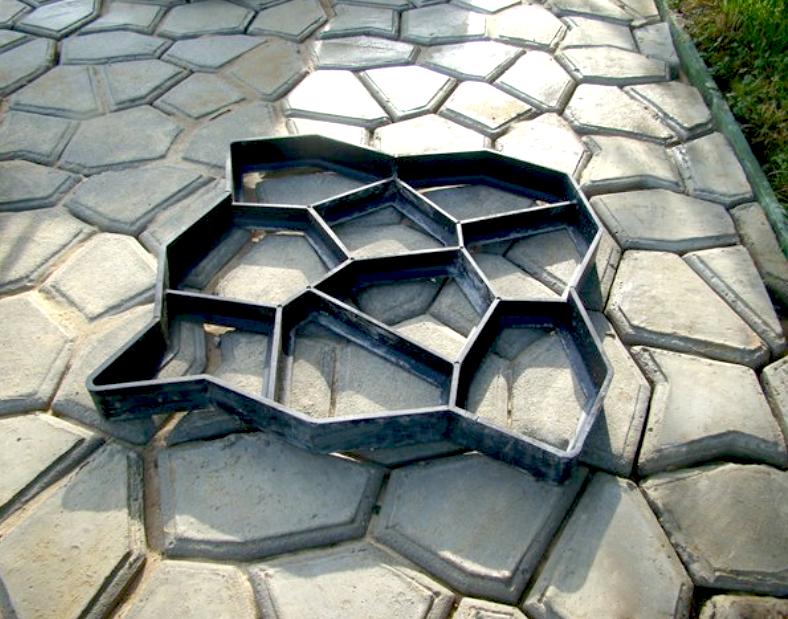 Сделать форм для тротуарной плитки своими руками 22