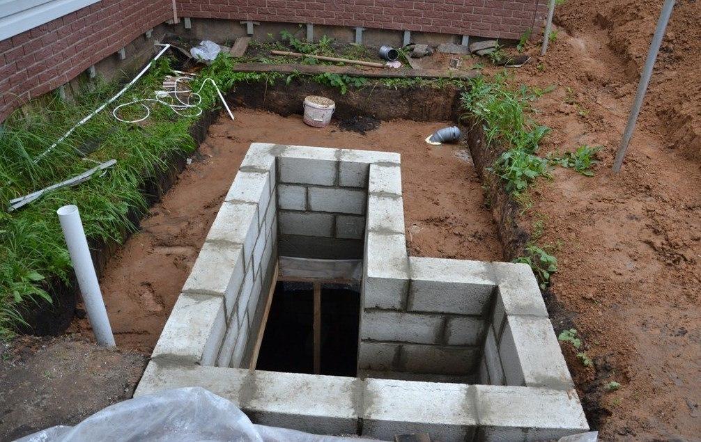погреб из блоков 20х20х40