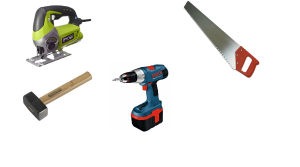 инструменты для постройки навеса