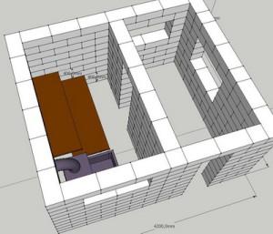 Как построить баню из газобетона.